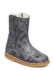 ECOLOGICAL HAND MADE Water proof Low Boot - 17-FLOWER NEGRO