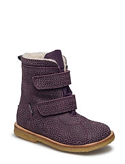 Tex Boot with velcro - 46-LEOPARD VIOLA
