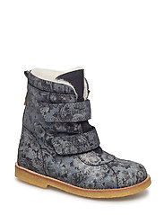 Tex Boot with velcro - 62-FLOWER NEGRO