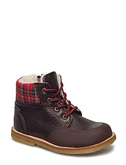 ECOLOGICAL HAND MADE Water proof Boot - 01-BROWN/RED