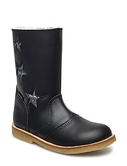 Tex Boot with Zip - 20-BLACK