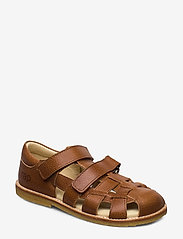 Arauto RAP - ECOLOGICAL CLOSED SANDAL, FOR EXTRA WIDE FEETS - sandały - 39-cognac - 0