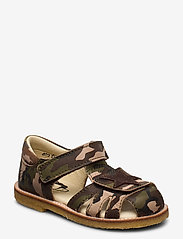 Arauto RAP - ECOLOGICAL CLOSED SANDAL, NARROW FIT - sandales - 37-green army - 0
