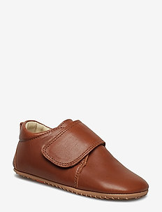 ECOLOGICAL HAND MADE Baby Shoe - domowe - 07-cognac