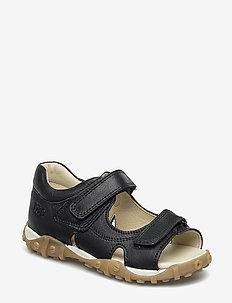 ECOLOGICAL OPEN TOE SANDAL, MEDIUM FIT - sandals - 25-black