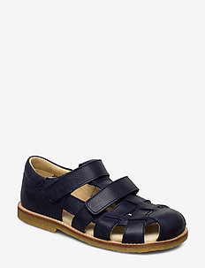 ECOLOGICAL CLOSED SANDAL, FOR EXTRA WIDE FEETS - sandals - 38-navy