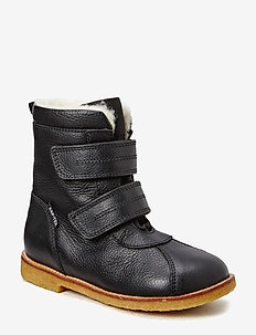 Tex Boot with velcro - vinter boots - black