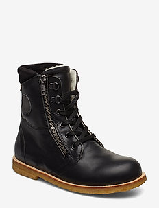 HAND MADE LOW BOOT - C1-BLACK LEATHER