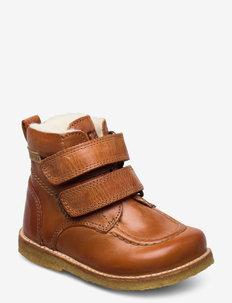 ECOLOGICAL HAND MADE Water proof Boot - pre-walkers - cognac