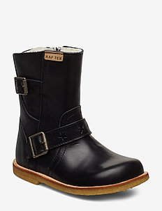 HAND MADE BOOT - C1-BLACK LEATHER