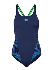 W FLUIDS ONE PIECE B - NAVY-SHINY GREEN