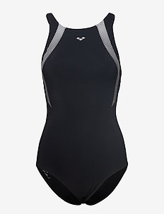 W THERESE EMBRACE BACK ONE PIECE - BLACK WHITE