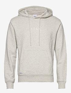 ARKK Classic Hoodie Snow Melange - basic sweatshirts - snow melange