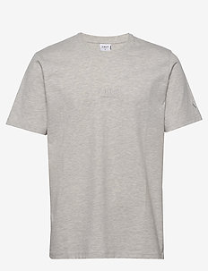 ARKK Classic Tee Snow Melange - basic t-shirts - snow melange