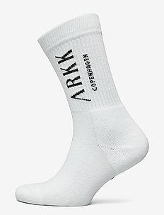The High Sock - Essential White Bla - regulære sokker - white black