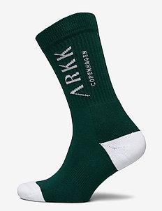 The High Sock - Essential Garden Gr - regulære sokker - garden green white