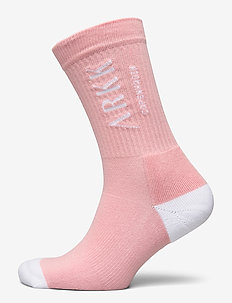 The High Sock - Essential Powder Pi - regular socks - powder pink white