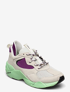 Kanetyk Suede W13 - chunky sneakers - off white neo mint