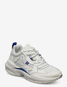 Quantm Leather T-G9 - chunky sneakers - off-white dazzling blue