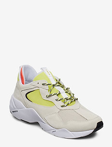 Kanetyk Suede W13 - baskets montantes - off white neon lime