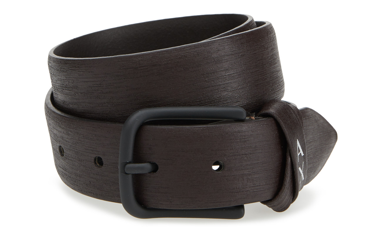 BrownArmani Leather Man Tongue Exchange Beltdark L35R4jA