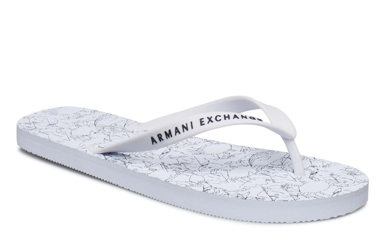 Armani Exchange PLASTIC FLIP FLOP - WHITE