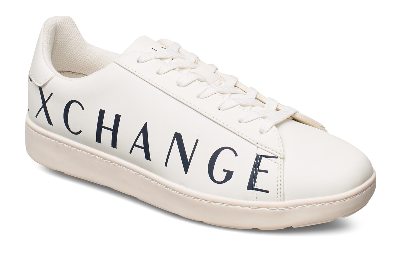 Armani Exchange AX MAN SHOES - OPTICAL WHITE+NAVY