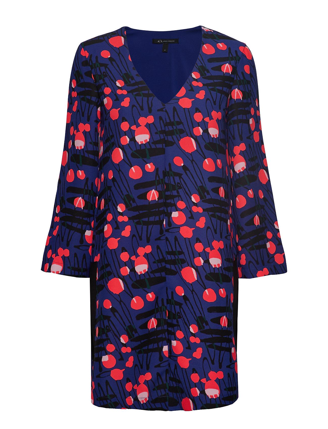 Armani Exchange WOMAN WOVEN DRESS - BERLINALE TRUE BLUE