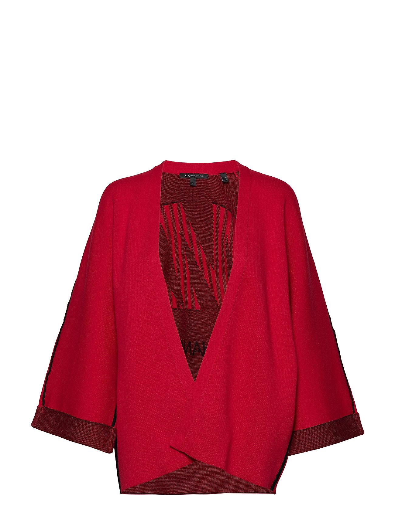 Armani Exchange WOMAN KNITWEAR CARDIGAN - RED SHOES /BLACK