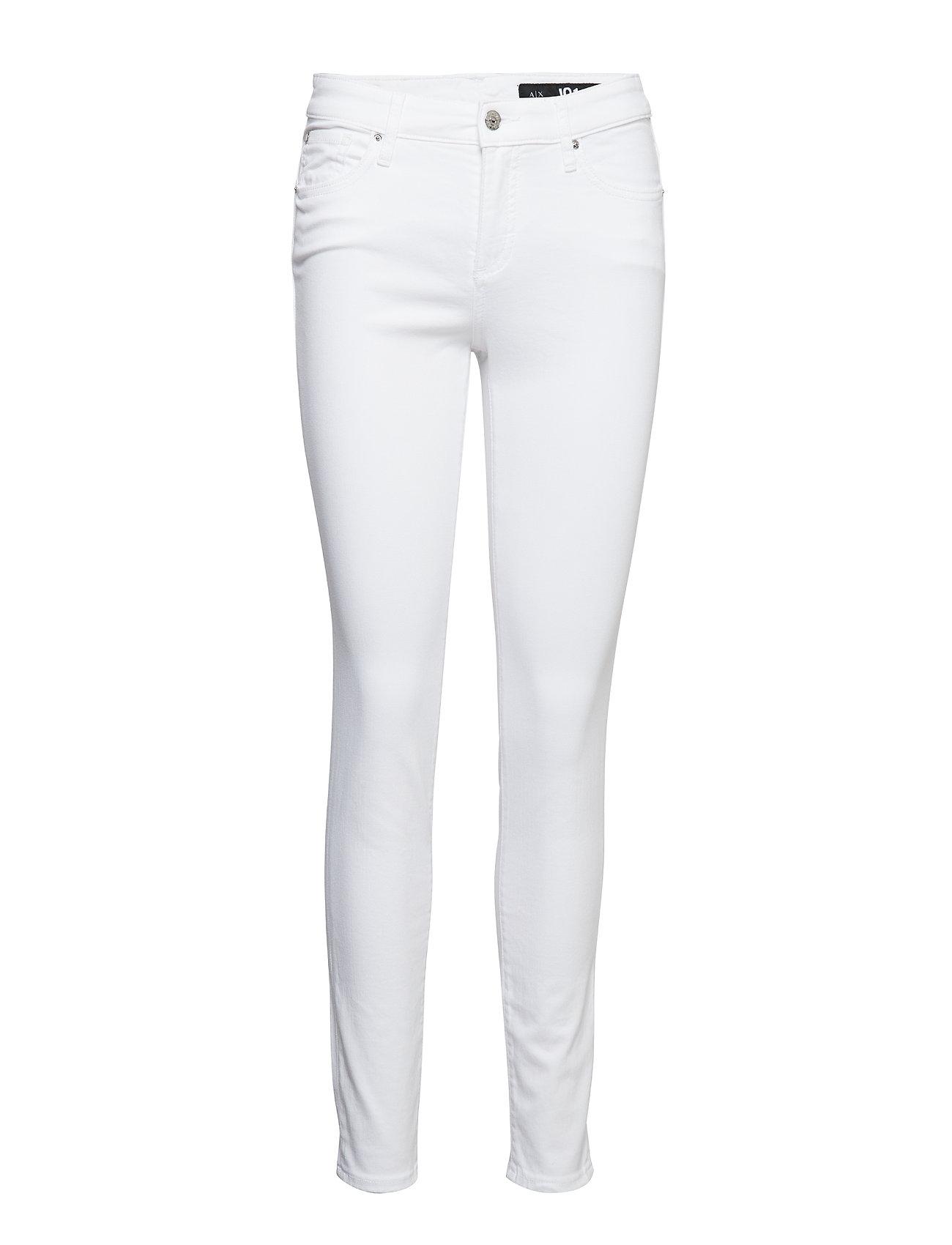 Armani Exchange WOMAN DENIM 5 POCKETS PANT - OPTIC WHITE