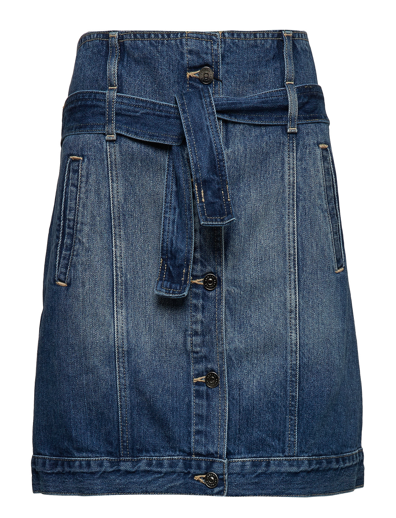 Armani Exchange WOMAN DENIM SKIRT - INDIGO DENIM