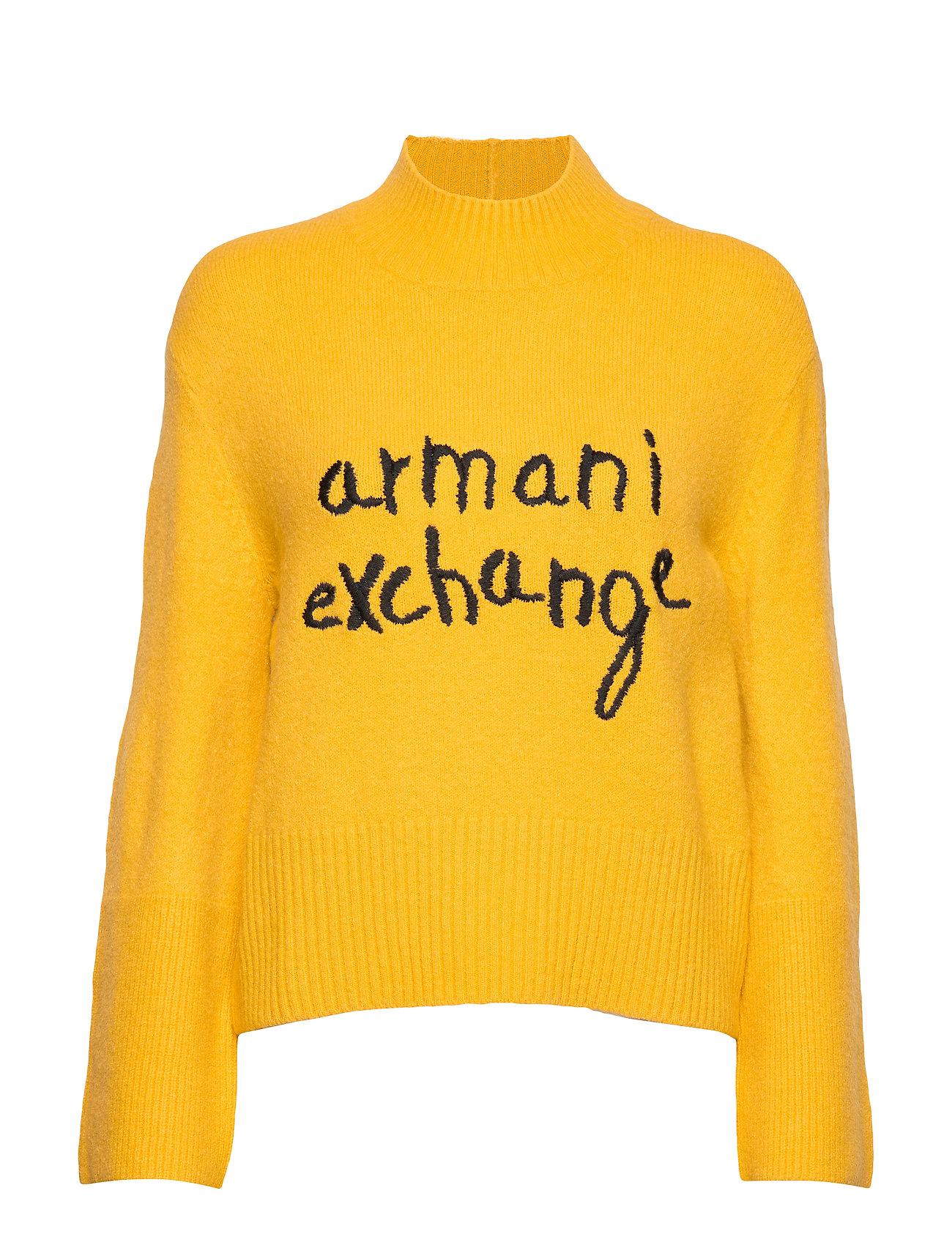 ARMANI EXCHANGE Ax Woman Sweather Strickpullover Gelb ARMANI EXCHANGE