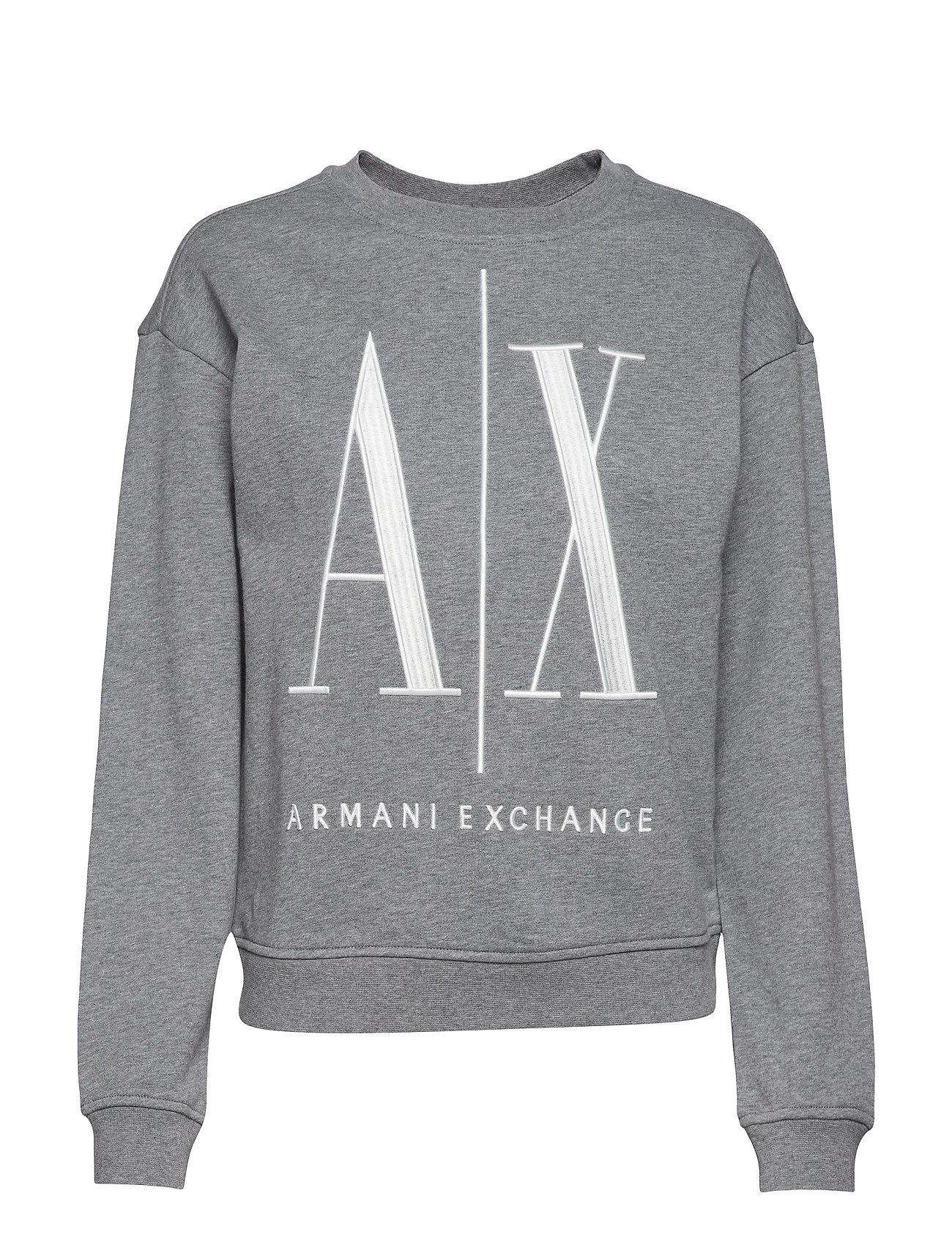 b876943d Ax Woman Sweatshirt (Bc09 Grey) (724 kr) - Armani Exchange - | Boozt.com