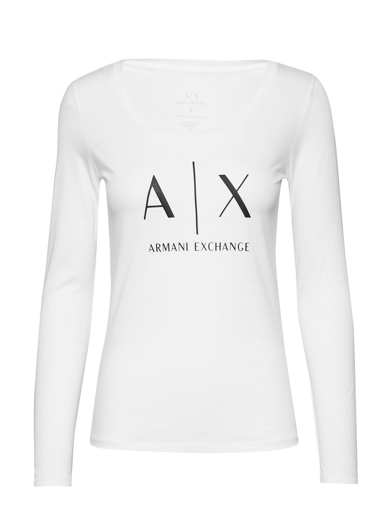 Image of Woman Jersey T-Shirt Langærmet T-shirt Hvid ARMANI EXCHANGE (3132352411)