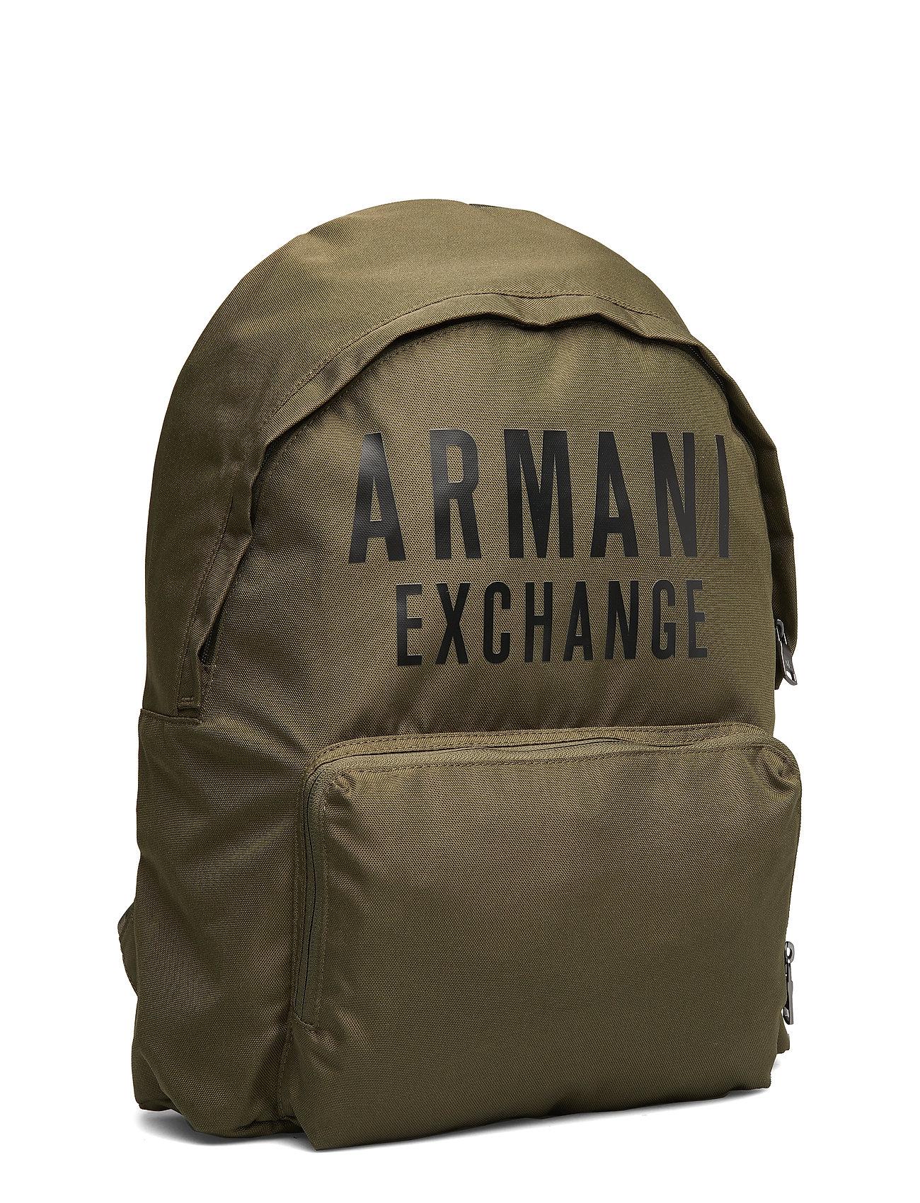 ARMANI EXCHANGE Ax Man'S Backpack Rucksack Tasche Grün ARMANI EXCHANGE