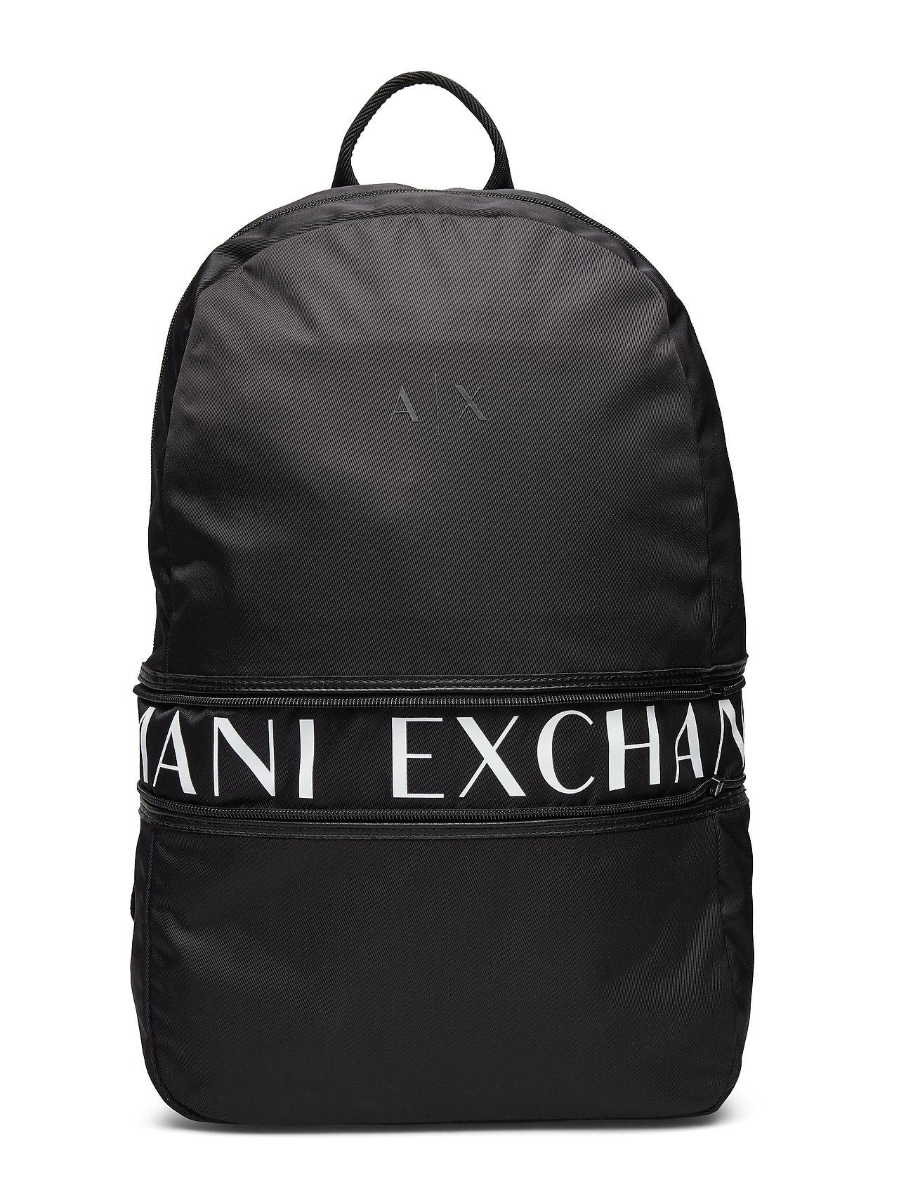 ARMANI EXCHANGE Ax Man'S Backpack Rucksack Tasche Schwarz ARMANI EXCHANGE