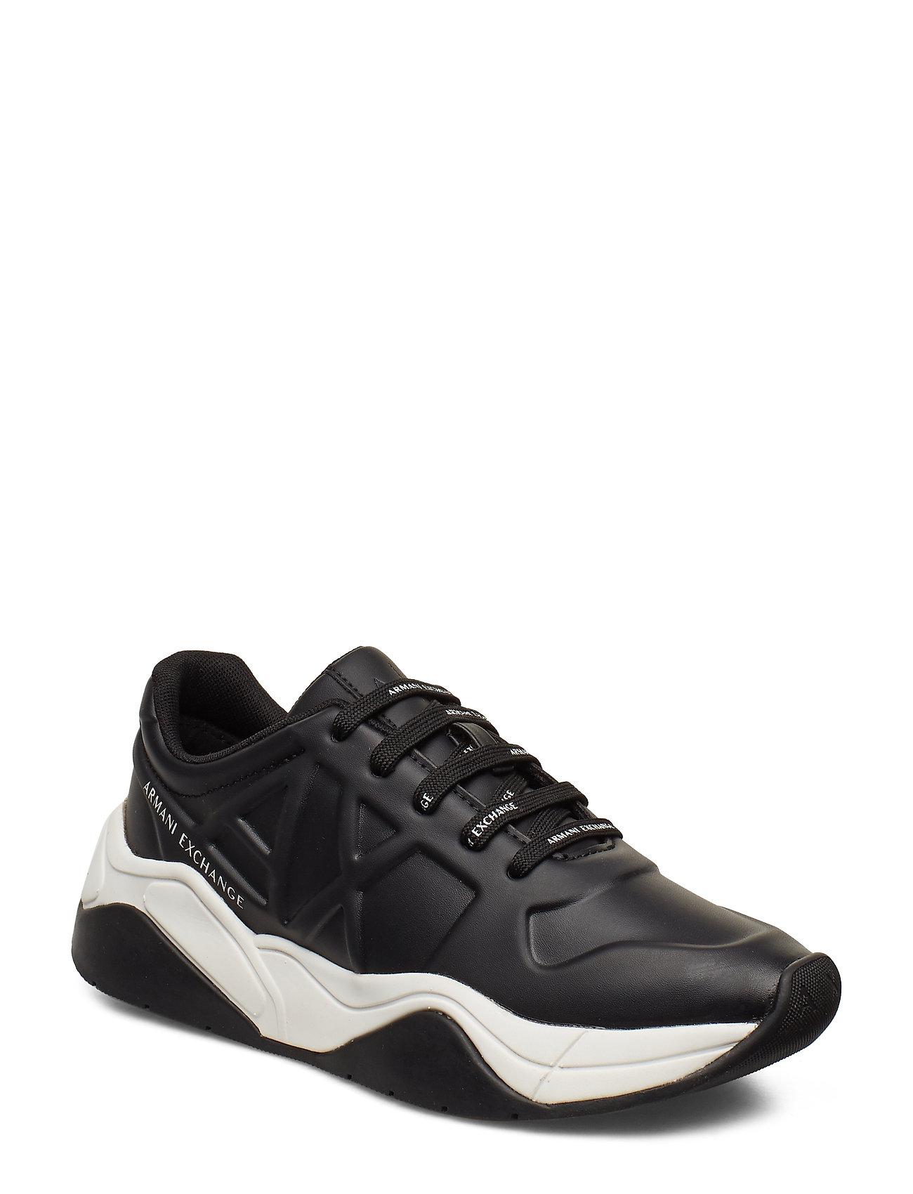 ARMANI EXCHANGE Ax Woman Shoes Niedrige Sneaker Schwarz ARMANI EXCHANGE