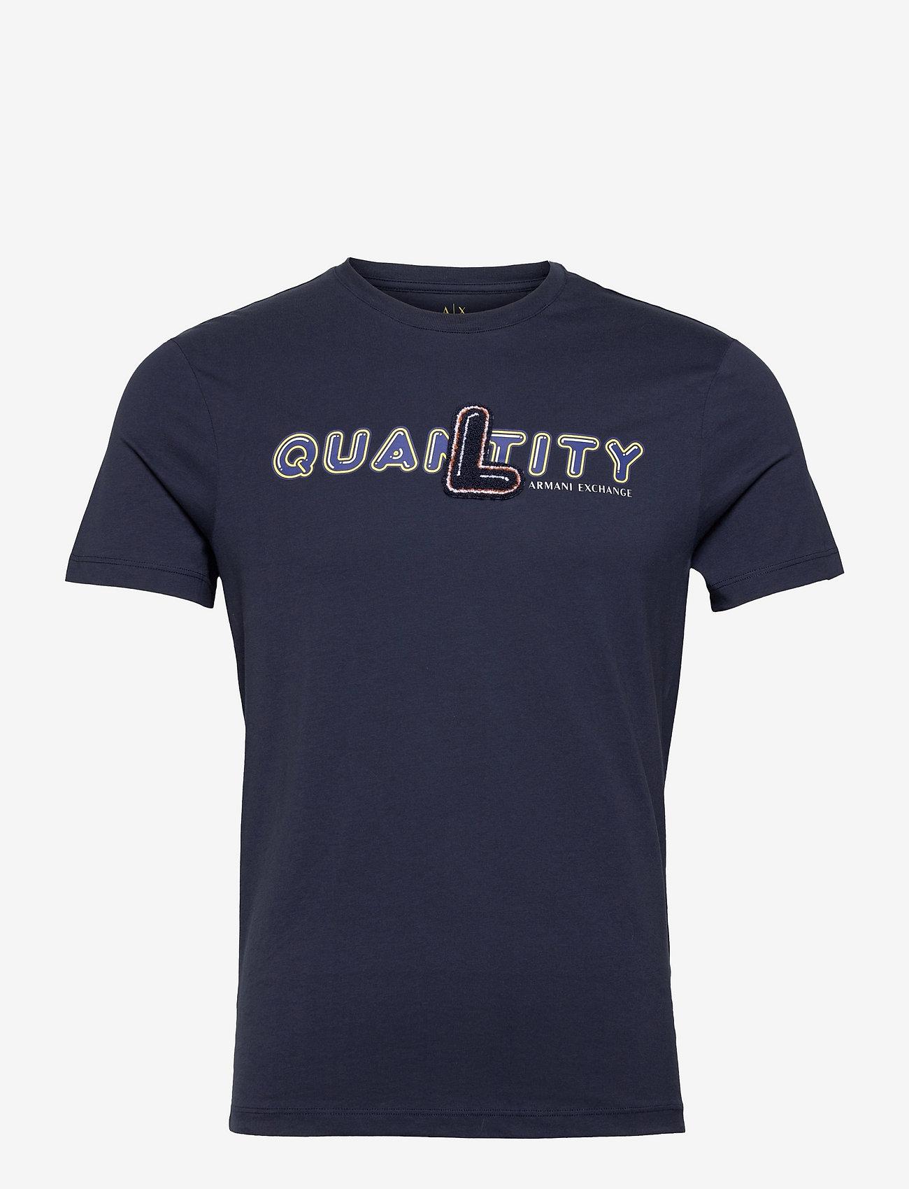 Armani Exchange - 3KZTND ZJ8HZ - t-shirts à manches courtes - black iris - 0