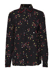 WOMAN WOVEN SHIRT - BLACK GR/ALL OVER PR