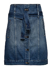 WOMAN DENIM SKIRT - INDIGO DENIM