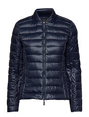 WOMAN WOVEN DOWN JACKET - NAVY