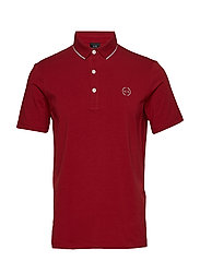 MAN JERSEY POLO SHIRT - BIKING RED