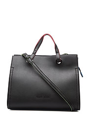 WOMAN PVC/PLASTIC SHOPPING BAG - NERO