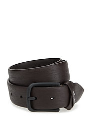 MAN LEATHER TONGUE BELT - DARK BROWN