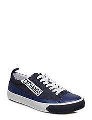MAN LEATHER SNEAKER - NAVY