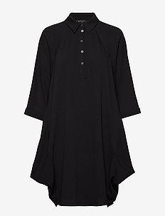 WOMAN WOVEN DRESS - BLACK