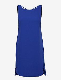 WOMAN WOVEN DRESS - TRUE BLUE