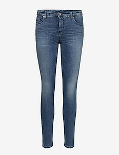 WOMAN DENIM 5 POCKETS PANT - INDIGO DENIM