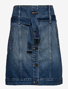 WOMAN DENIM SKIRT - jupes midi - indigo denim
