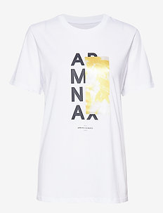 AX WOMAN T-SHIRT - OPT WHITE/HONEY PRIN